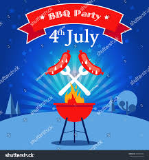 Background Of Invitation Card Invitation Card Barbecue Party Grilled Sausages Stock Vector