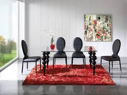 Black Glass Dining Room Sets Glass Top U0026 Black Legs Modern Dining Table W Options