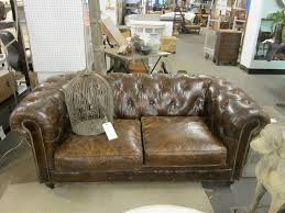old leather couch at props for today florie huppert design
