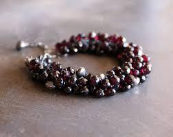 garnet gemstone bracelet images Garnet plethora bracelet talinka co jpg