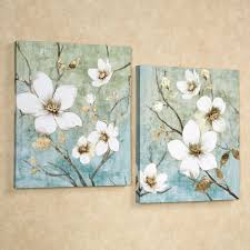 Bedroom Wall Art Sets In Bloom Floral Canvas Wall Art Set