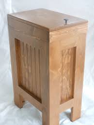 wooden trash can with lid kitchen trash can cabinet kitchen trash