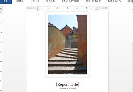 cover page of report template in word student report template for word with cover photo