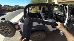 jeep jk soft top complete installation youtube