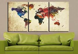World Map Artwork by World Map Large World Map World Map Canvas Abstract World Map 3