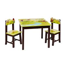 Table And Chair Sets Amazon Com Guidecraft Hand Painted Jungle Party Table U0026 Chairs
