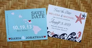 destination wedding save the dates pink blue destination wedding save the dates emdotzee