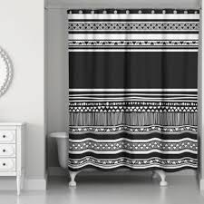Black Bathroom Curtains Buy Black And White Bathroom Curtain From Bed Bath Beyond