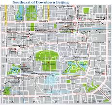 Beijing China Map by Map Of Beijing The Southeast Part Of Downtown Beijing China