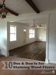 10 dos and don ts for staining wood floors