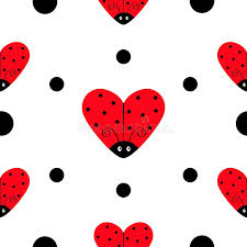ladybug wrapping paper ladybug ladybird icon set heart shape baby collection