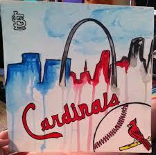 Home Decor St Louis St Louis Cardinals Fan Art Watercolor Paintingcardinals Home