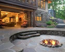 Backyard Flagstone Pleasing Concept Isoh Startling Munggahlovable Fascinate Startling