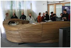 Timber Reception Desk The Design Files Open House Council House 2