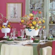 Easter Table Flower Decorations by Colorful Easter Table Decorations Southern Living