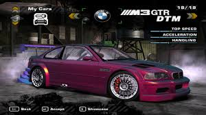 Bmw M3 Gtr - need for speed most wanted bmw m3 gtr dtm edition nfscars