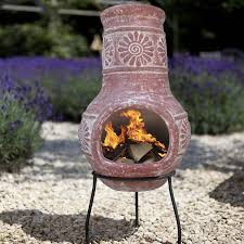 Patio Heaters San Diego by Red Clay Chiminea Wood Burning Patio Heater Craft Ideas