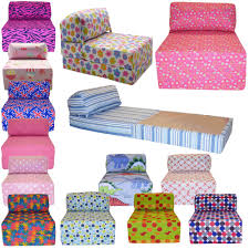 Sofa Bed For Kids Cotton Print Single Chair Bed Z Guest Fold Out Futon Sofa Chairbed