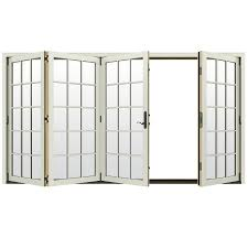 French Patio Doors Outswing by 1875 In 15 Lite Glass French Vanilla Wood Folding Outswing Patio