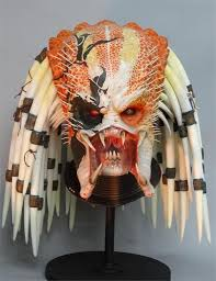 movie prop lifesize albino predator head halloween decoration