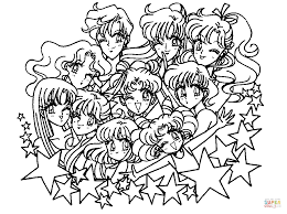sailor moon stars coloring page free printable coloring pages