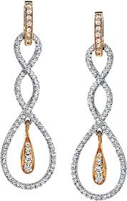 fashion earrings simon g white and gold fashion earrings with diamonds sg te128