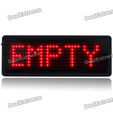 tsr mini programmable scrolling led name message advertising tag