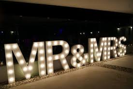 large light up letters light up your wedding with our range of illuminated props weddings