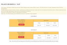 luxury trains of india palace on wheels train ticket cost tariff fare schedule 2017 u20132018