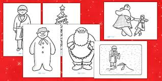 colouring sheets support teaching snowman colouring