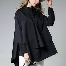 womens black blouse womens asymmetrical hem blouse blouses asymmetrical