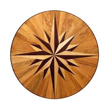 wood inlay pid floors 3 4 in thick x 36 in wide circular medallion