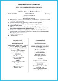 Combined Resume Outstanding Professional Apartment Manager Resume You Wish To Make