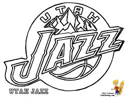 utah jazz logo coloring page coloring home