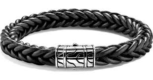 chain bracelet with leather images Lyst john hardy 40th anniversary men 39 s classic chain braided jpeg