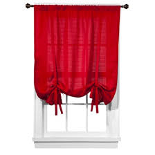 Tie Up Valance Kitchen Curtains Room Essentials Chesapeake Tie Up Shade 19 99 At Target Comes