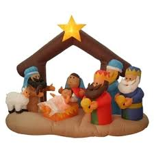 Christmas Yard Decorations Nativity Set by Giant Outdoor Nativity Scene White Pvc Large Christmas Yard