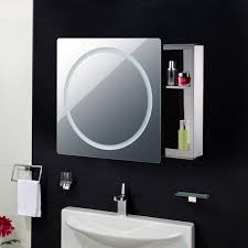 armadietto bagno con specchio homcom armadietto pensile da bagno con specchio e luce led in