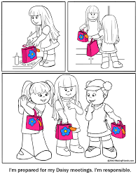 daisy scout coloring page this coloring page shows being