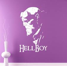 compare prices on teen decor online shopping buy low price teen hellboy poster wall vinyl decal dc marvel comics superhero poster sticker dorm home interior decoration teen