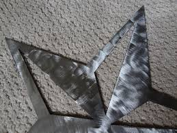 hand made star brushed metal wall art set of 3 large 18