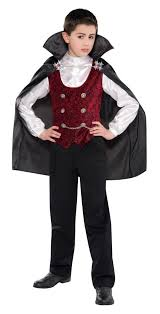 dark gothic vampire boys halloween party fancy dress childs