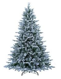 abusa flocked prelit artificial tree 7 5 ft snowy spruce