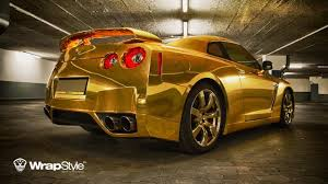 nissan gtr in gold color cars and beyblade and minecraft