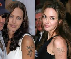 angelina jolie tattoo removal celebrity tattoo removal