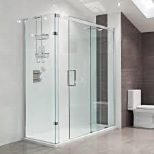 Shower Sliding Door Bathroom Sliding Shower Door With Recessed Lighting Plus White