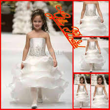Flower Girls Dress Shoes - new a line strapless organza layered hi lo flower dresses