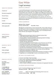 Secretarial Resume Template Legal Secretary Resume Sample Legal Secretary Legal Secretary