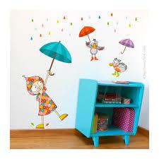 sticker mural chambre fille stickers muraux chambre fille dansons sous la pluie série golo
