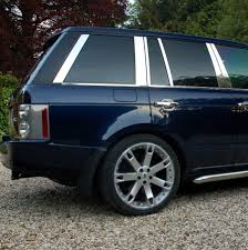 land rover vogue 2005 chrome b c d pillar covers 12pc kit for range rover l322 02 vogue